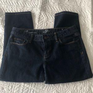 Ann Taylor Loft cropped jeans